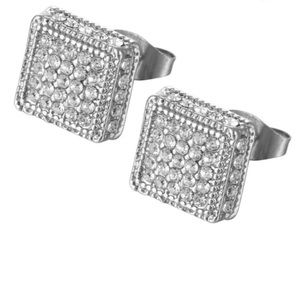 ❤️gorgeous 925 silver diamond stud earrings